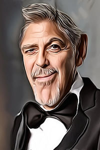 Caricature de George Clooney