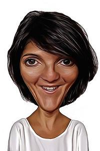 Caricature de Florence Foresti