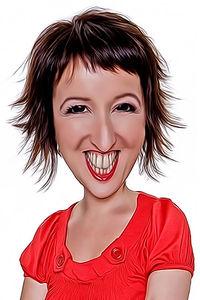 Caricature de Anne Roumanoff