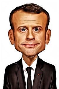 Caricature de Emmanuel Macron
