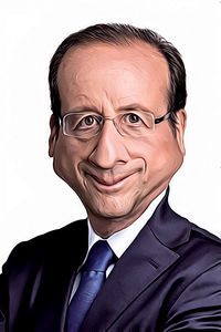 Caricature de François Hollande