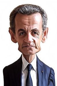 Caricature de Nicolas Sarkozy