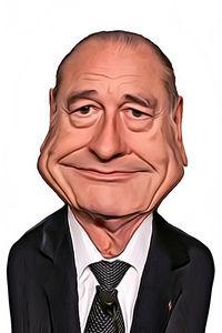 Caricature de Jacques Chirac