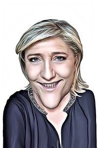 Caricature de Marine Le Pen