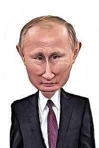 Caricature de Vladimir Poutine