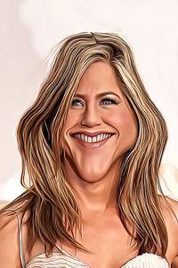 Caricature de Jennifer Aniston
