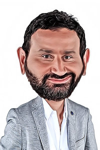 Caricature de Cyril Hanouna