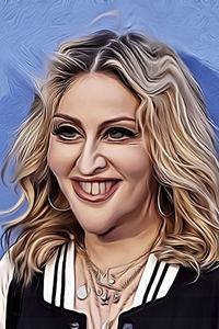 Caricature de  Madonna