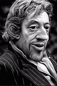 Caricature de Serge Gainsbourg