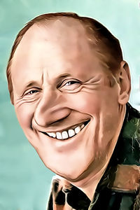Caricature de  Bourvil