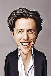 Caricature de Hugh Grant