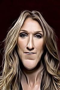 Caricature de Céline Dion