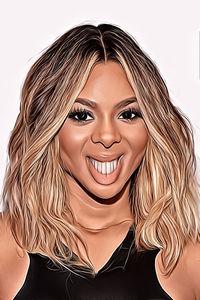 Caricature de  Beyonce