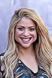 Caricature de  Shakira