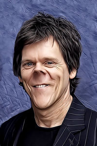 Caricature de Kevin Bacon