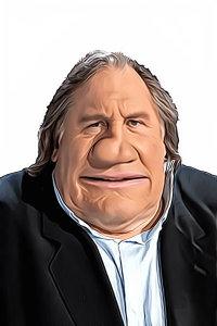 Caricature de Gérard Depardieu