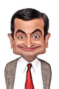 Caricature de Mr Bean