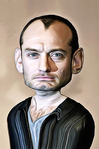 Caricature de Jude Law