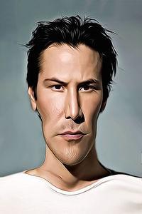 Caricature de Keanu Reeves