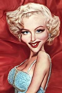 Caricature de Marilyn Monroe