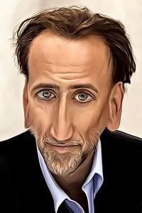 Caricature de Nicolas Cage