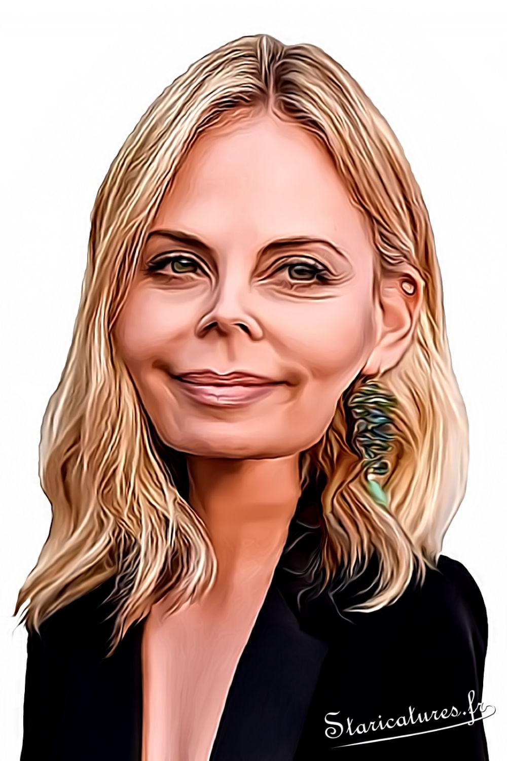 Caricature de Charlize Theron