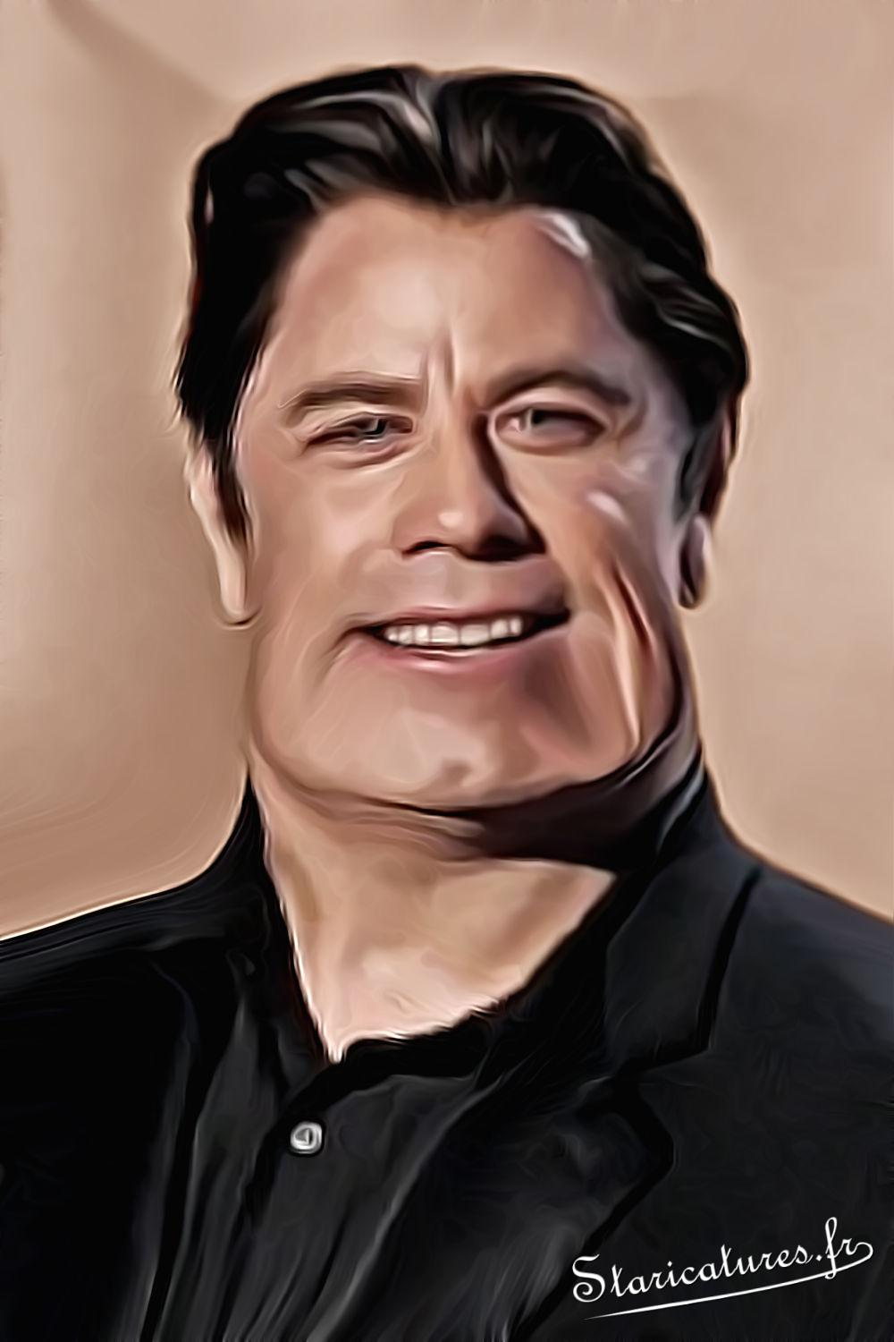 Caricature de John Travolta