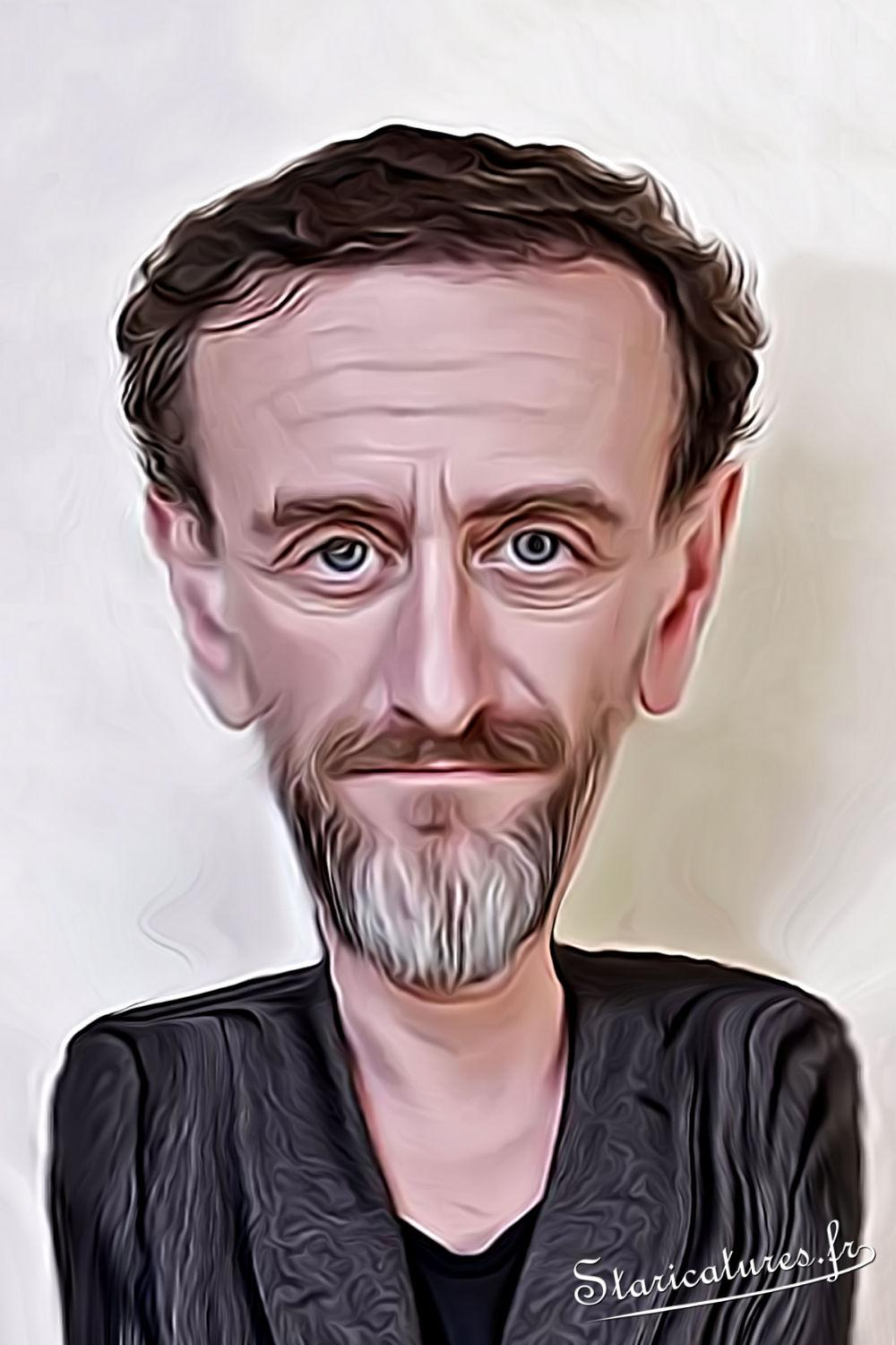 Caricature de Jean-Paul Rouve